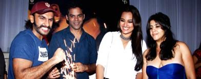 Ranveer and Sonakshi's big celebrations