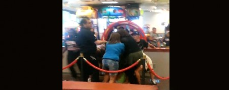 Brawl erupts at Chuck E. Cheese's party