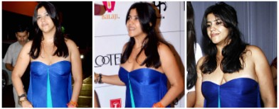 Ekta's wardrobe malfunctions again!