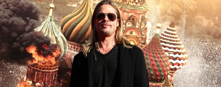 Brad Pitt's hair takes back seat in movie