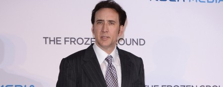 Nic Cage walks red carpet with son