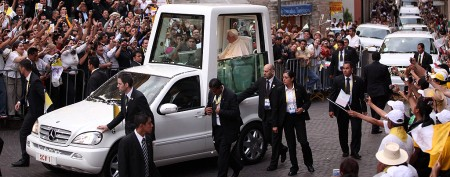 Pope opts to ditch his famous popemobile