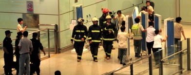 Man in wheelchair behind Beijing explosion