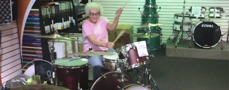 Identity of 'Grandma Drummer' revealed