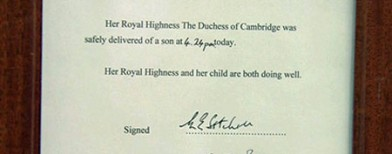 Kate and William welcome newborn prince