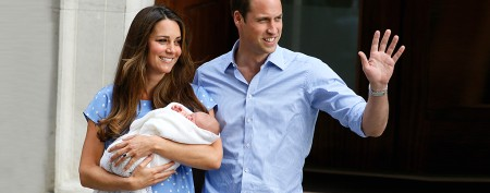 Kate and William show off baby boy