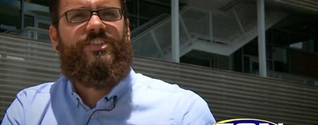Man's strange use for his beard