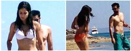 Katrina in a bikini, with Ranbir!