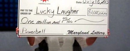 Giddy lottery winner can't stop laughing