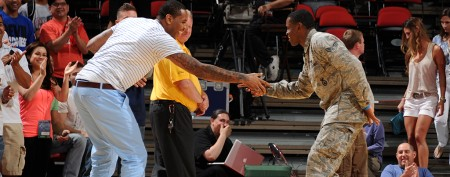 U.S. Air Force member's surprise for NBA stars