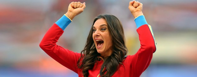 Russian pole vault champ Yelena Isinbayeva supports anti-gay law  (Julian Finney/Getty Images)