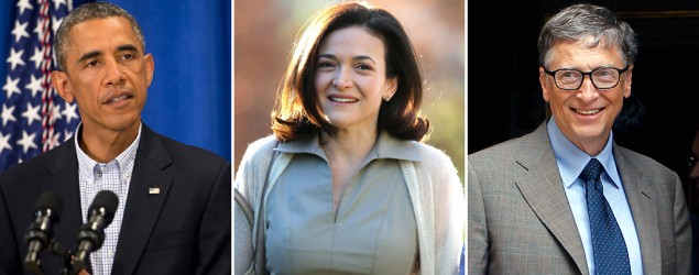 What successful people do before going to bed (Barack Obama-Rick Friedman-Pool/Getty Images; Sheryl Sandberg-Scott Olson/Getty Images; Bill Gates-Chesnot/Getty Images)
