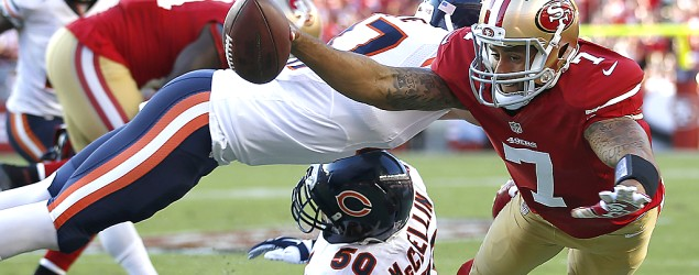 Watch live: Bears take on 49ers on NBC's Sunday Night Football. (Getty Images)