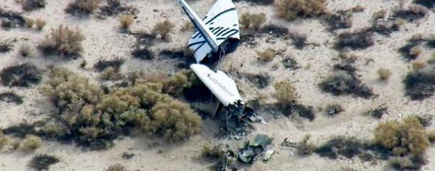 A Virgin Galactic spaceship is reported to have crashed during a test flight in California. (AP)