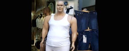 'Obese' mannequin hits a nerve
