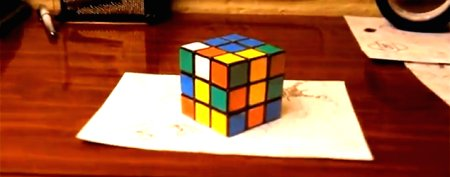Rubik's cube illusion boggles the mind