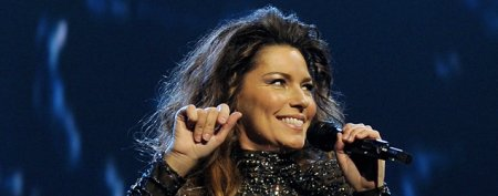 Shania Twain stuns in sparkling catsuit