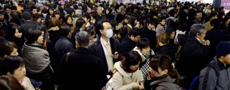 Powerful quake rattles northeast Japan