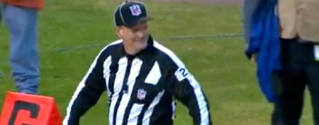 NFL official laughs off painful moment