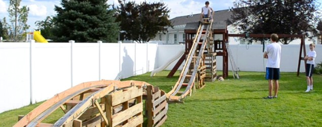 Big Roller Coaster In Backyard : Teens build a backyard roller coaster, Austin Twede and Porter Harding