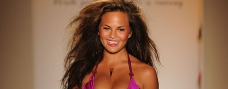 Sports Illustrated model Chrissy Teigen in a bikini (Frazer Harrison/Getty Images)