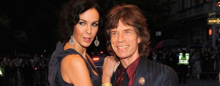 L'Wren Scott and Mick Jagger on the red carpet (Larry Busacca/Getty Images)