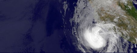 Hurricane Bud moves toward Mexico coast (AP/NASA)