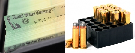 Social Security Administration's ammo purchase sparks rumors. (William Thomas Cain/Getty Images; Thinkstock)