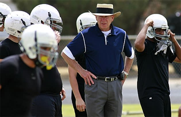 Legendary football coach Gary Gaines will not return for the 2013 season — AP