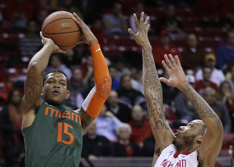 Wells leads Maryland over Miami 74-71