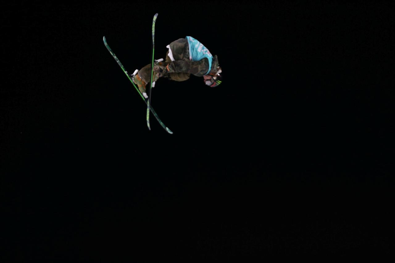 Freestyle Skiing - X Games Men's Big Air Ski finals - Hafjell, Norway - 11/03/17 - Gold medalist Henrik Harlaut from Sweden in action. NTB Scanpix/Geir Olsen/via REUTERS ATTENTION EDITORS - THIS IMAGE WAS PROVIDED BY A THIRD PARTY. FOR EDITORIAL USE ONLY. NORWAY OUT. NO COMMERCIAL OR EDITORIAL SALES IN NORWAY. NO COMMERCIAL SALES.