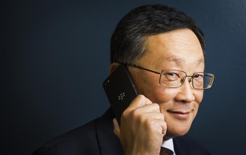 Blackberry CEO Chen poses for a portrait in Toronto