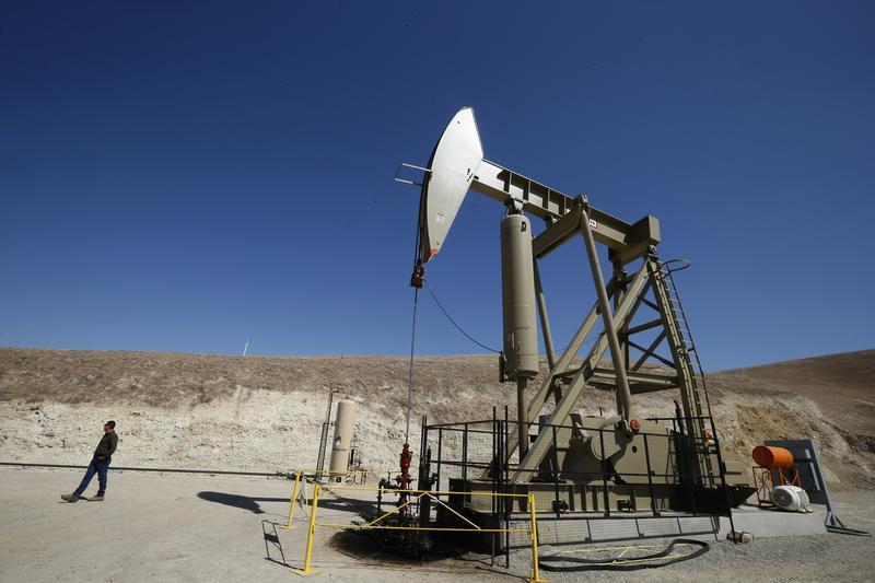 A pumpjack brings oil to the surface in the Monterey Shale