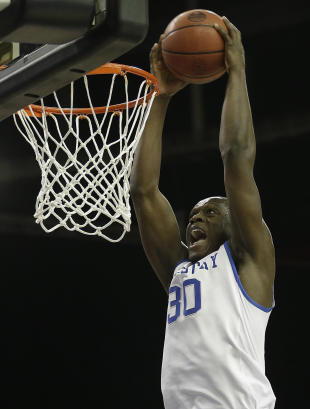 Julius Randle projects to be a top 10 pick in this month's NBA draft. (AP)