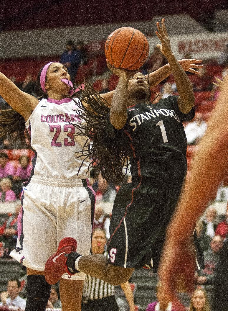 No. 3 Stanford women beat Washington State 77-69