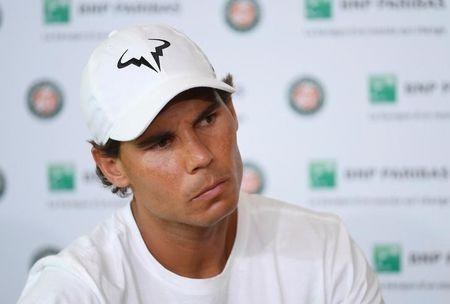 Tennis - French Open - Roland Garros - Rafael Nadal of Spain attends a news conference - Paris, France - 27/05/16.  REUTERS/Stringer