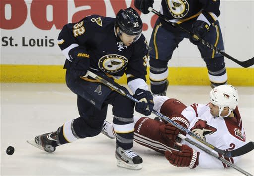 Allen earns 1st NHL shutout; Blues top Coyotes