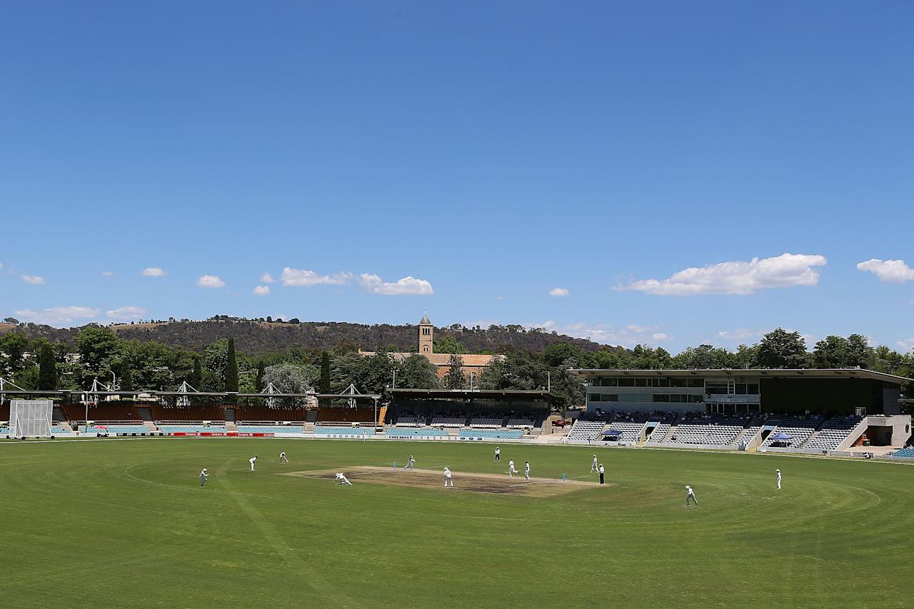 CANBERRA, AUSTRALIA - DECEMBER 08:  A general view of Manuka Oval during day three of the international tour match between the Chairman's XI and Sri Lanka at Manuka Oval on December 8, 2012 in Canberra, Australia.  (Photo by Brendon Thorne/Getty Images)