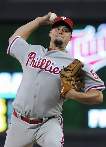 Blanton, Thome lead Phillies over Twins 6-1
