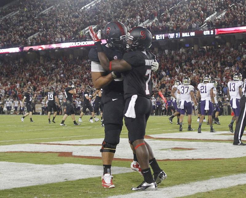 No. 5 Stanford outlasts No. 15 Washington, 31-28
