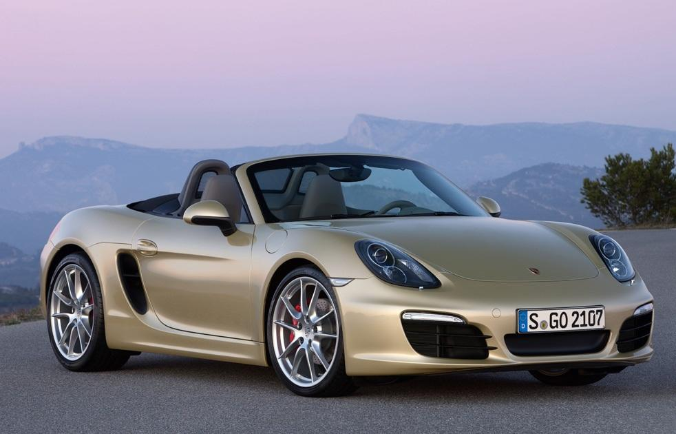 Porsche Boxster S: Porsche's push me-pull me looks for the Boxster convertible have never quite worked, but with design ideas snatched from the fabulous Carrera GT there's now an elegance and purposefulness with the new car that the previous generation lacked. For £45,384 the S version is a thrilling drive with 0-62mph in 4.8 seconds and superb cornering balance. Oh, and it's £300,000 less than a collector's item Carrera GT! (Porsche)