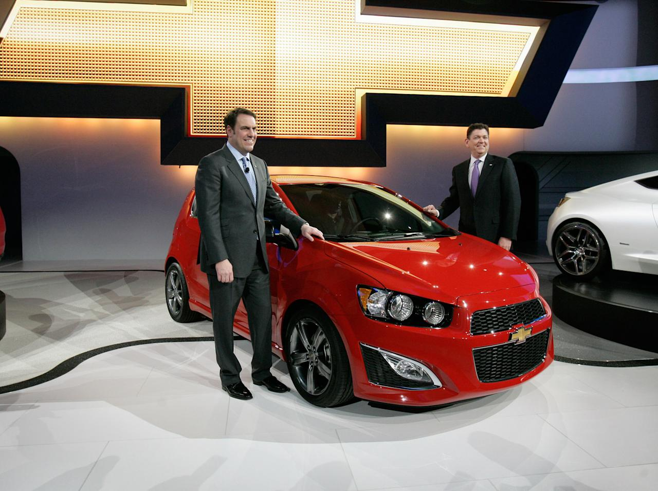 """<b><a href=""""http://autos.yahoo.com/chevrolet/sonic/2014/ls-manual-hatchback/"""" target=""""_blank"""">Chevy Sonic Hatchback</a></b><br />MSRP: $14,770<br />MPG:26 City/35 Hwy<br /><br />This subcompact out of Detroit allows you """"Buy American"""" street cred with a 1.8 L four-cylinder turbocharged engine and nice lines to boot. A Testarossa this is not--with only 138 horses under the hood, but it will merge you onto the highway just fine and more than make up for its shortcomings in the money you save."""