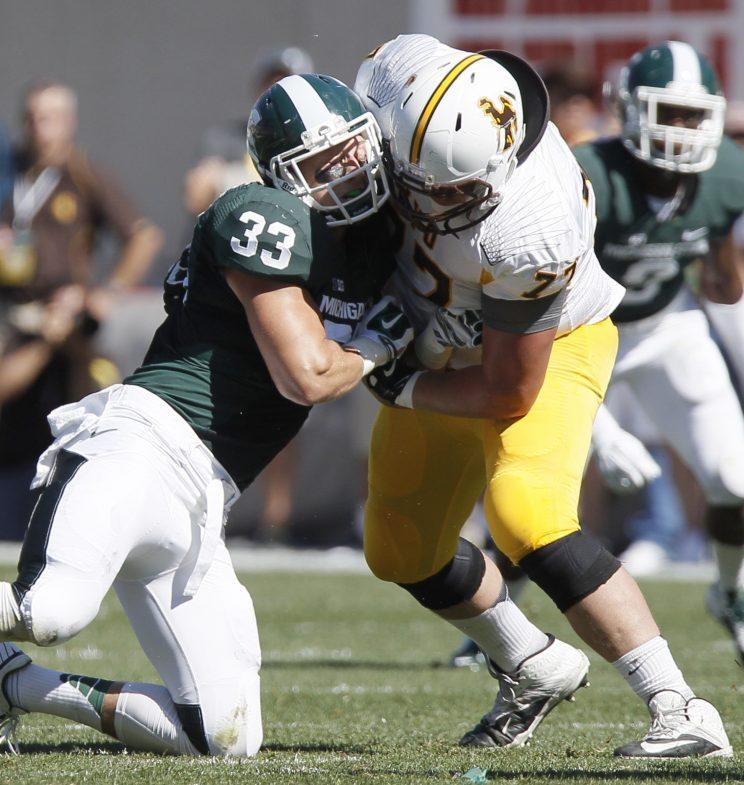 Michigan State linebacker Jon Reschke announces his departure from football program