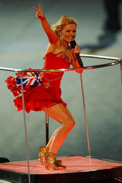LONDON, ENGLAND - AUGUST 12:  Geri Halliwell of The Spice Girls performs during the Closing Ceremony on Day 16 of the London 2012 Olympic Games at Olympic Stadium on August 12, 2012 in London, England.  (Photo by Mike Hewitt/Getty Images)