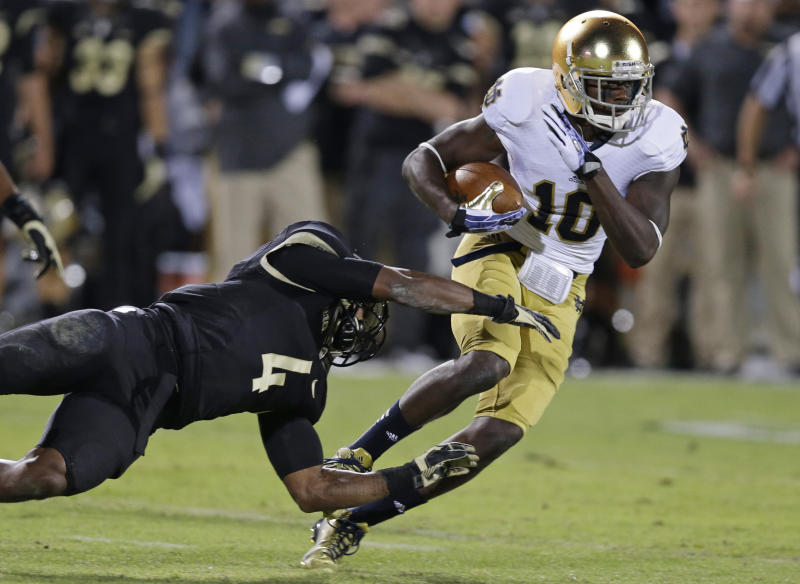 No. 21 Notre Dame rallies late, beats Purdue 31-24
