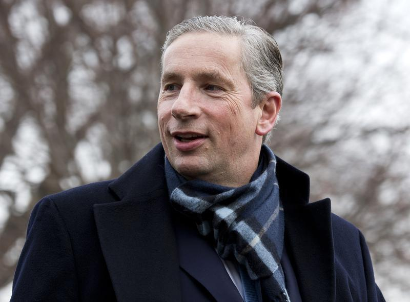 Klaus Kleinfeld, Alcoa Chairman and CEO arrives to meet with U.S. President Barack Obama and other CEOs at the White House in Washington