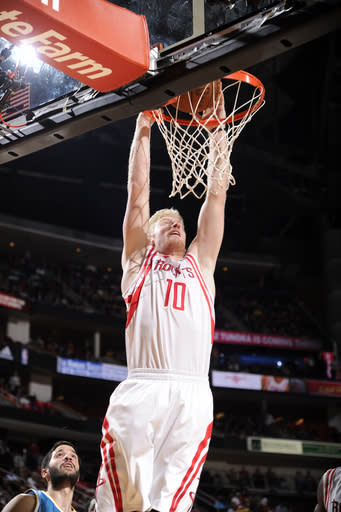 Rockets end season with 84-77 win over Hornets