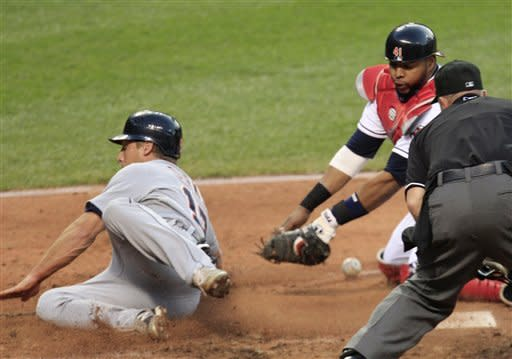 Indians score twice in eighth to top Tigers 4-2