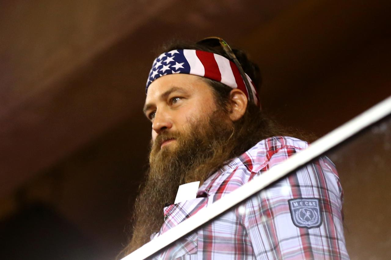 "ST LOUIS, MO - OCTOBER 28: Willie Robertson of ""Duck Dynasty"" attends Game Five of the 2013 World Series between the St. Louis Cardinals and the Boston Red Sox at Busch Stadium on October 28, 2013 in St Louis, Missouri. (Photo by Ronald Martinez/Getty Images)"