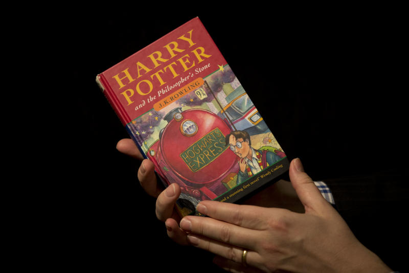 Annotated 'Harry Potter' 1st edition on auction